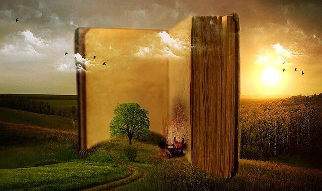 illustration livre ouvert imagination