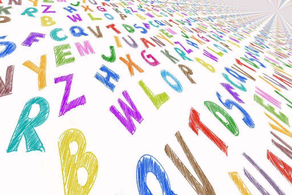 écriture lettres